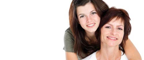 A mum and her teenage daughter consider acne treatment from Elan Medical Skin Clinics in London and Essex