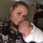 Elan Medical Skin Clinic's aesthetic therapist, Amy is pictured with her new baby boy, Charlie