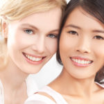 Two friends enjoy the £50 voucher offer at Elan Medical Skin Clinics in Essex and central London