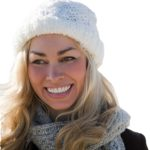 Smiling lady in a winter hat - Don't let winter get the better of your skin! Help is at hand from Elan Medical Skin Clinics in central London and Essex