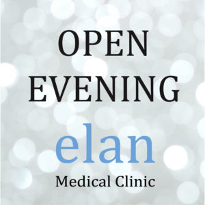 Join Elan Medical Skin Clinic in Essex for our open evening on October 31st 4pm – 8pm.